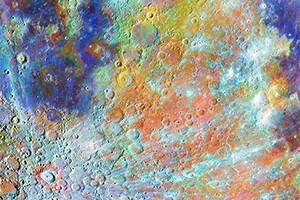 5 Crater con color
